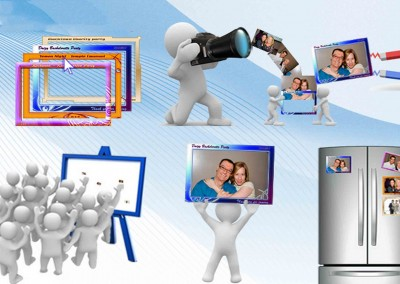 Магнитни снимки, снимки на магнит, Фотомагнити за хладилниик